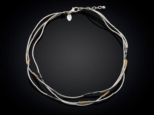 Jeh Jewels ketting collier zilver verguld en geoxideerd