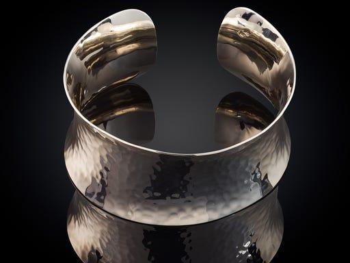 Zilveren armband hamerslag Sieraden in Stijl