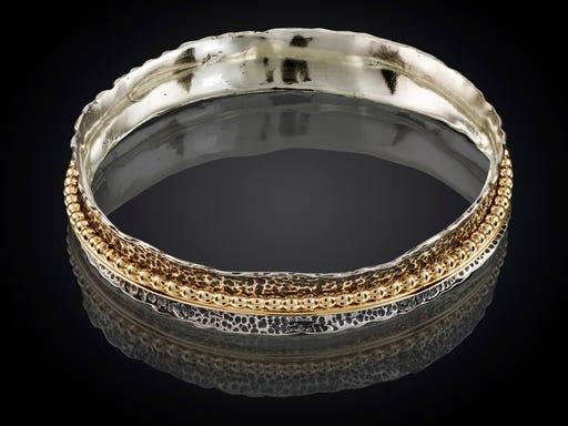 Armband Zilver - Goud - Oxi uit de Touch of Gold collectie van Jeh op Sieraden in Stijl