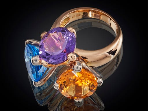 Danser ring uit de nieuwste collectie van sieraadontwerpster Marijke Mul