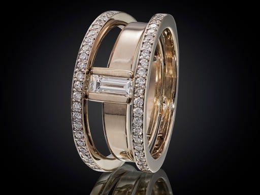 witgouden, trouwring, diamant, diamantjes, zonsopgang, collectie, sieraden, marijke, mul, verlovingsring, luxe, kwaliteit