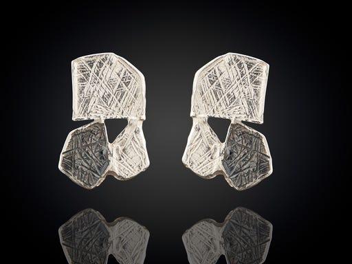 Zilveren oorstekers organische vormen zilver Sieraden in Stijl