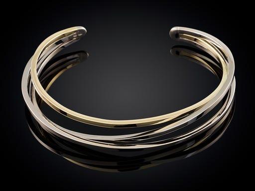 Armband wikkelserie bi-color 3 baans Sieraden in Stijl
