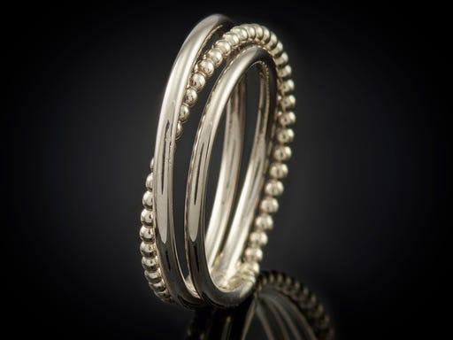 ring witgouden wikkelring