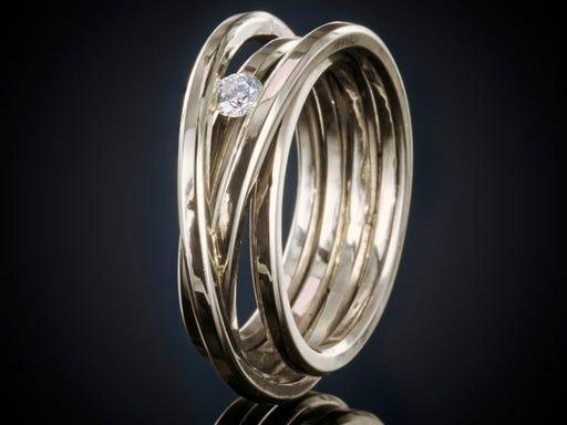 witgouden ring diamant
