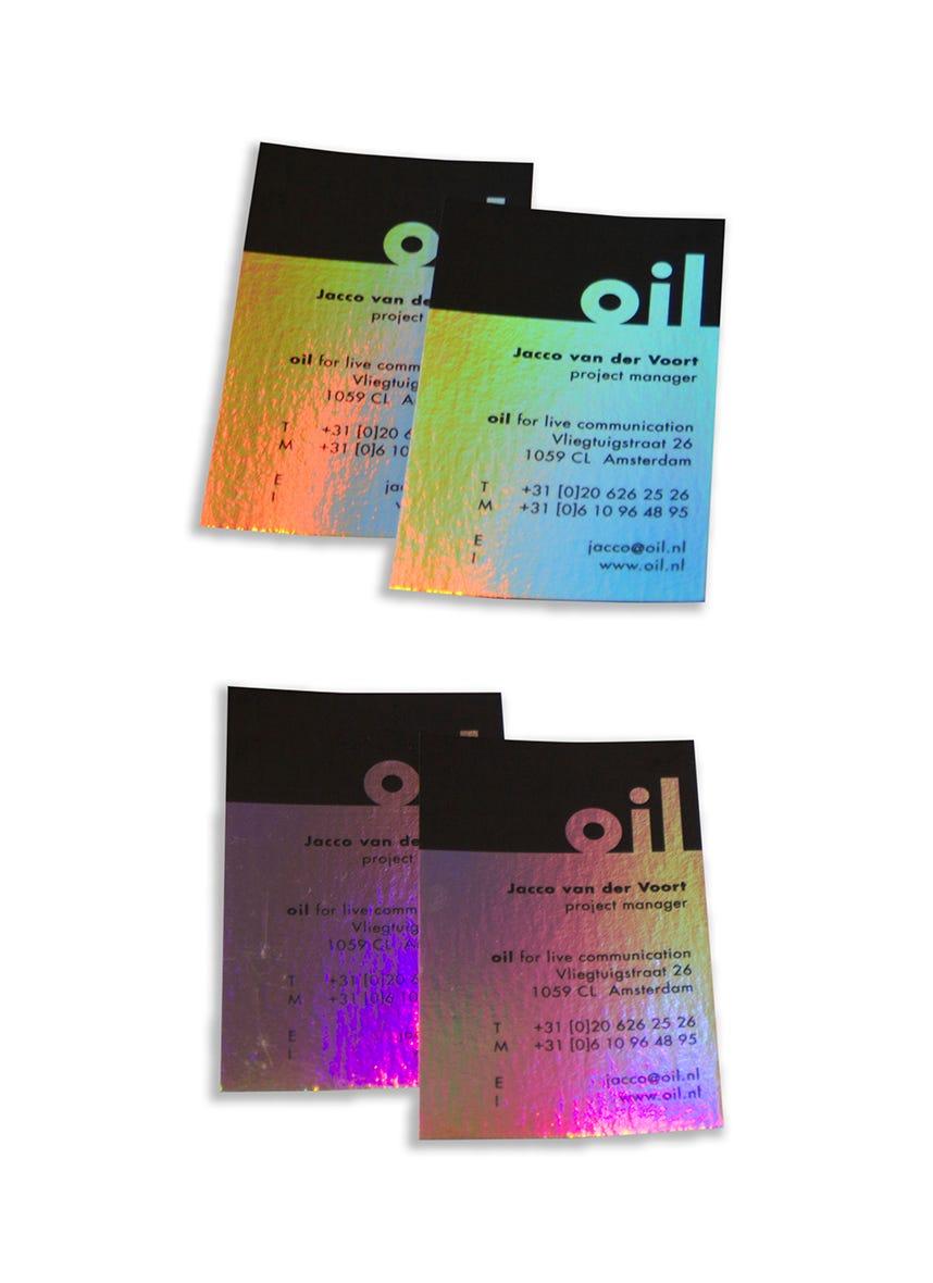 Oil • visitekaartjes