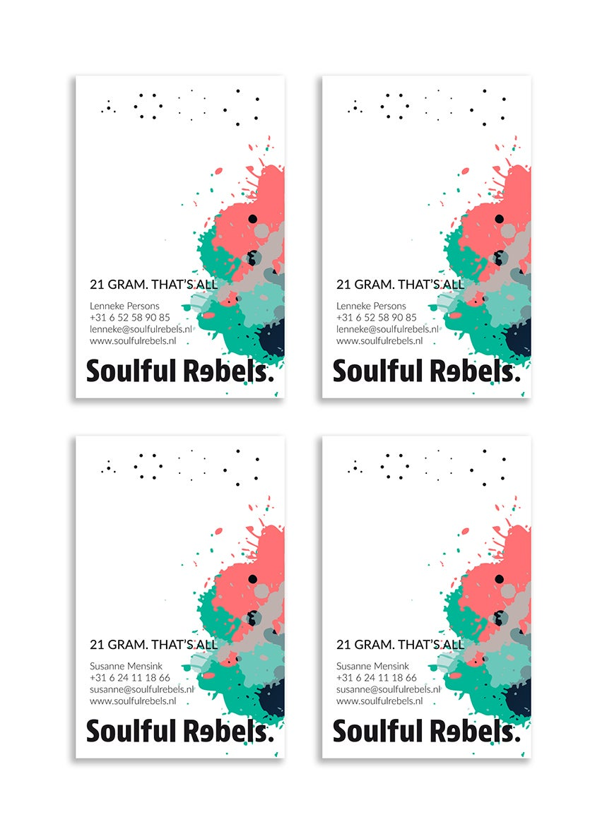 Soulful Rebels • visitekaartjes