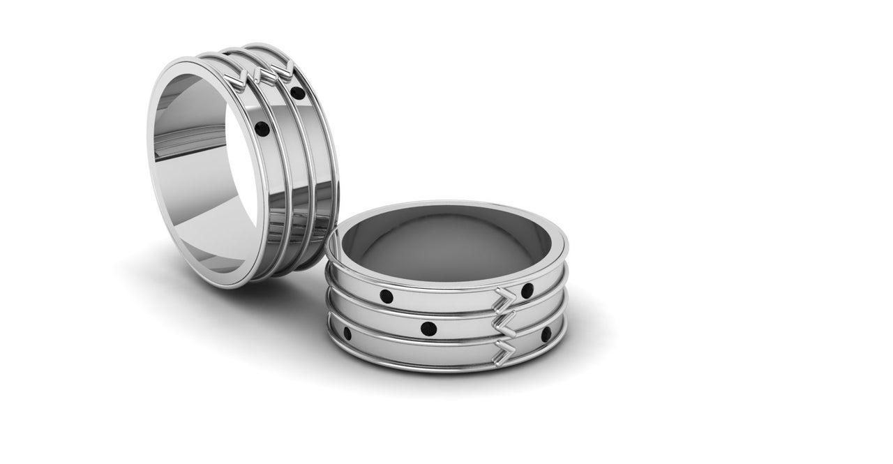 E & M ring zilver heren model digitaal ontwerp Marijke Mul Sieraad laten maken