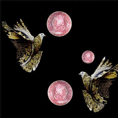 wallpaper Fabrics La Femme des Oiseaux