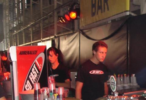 Werken op Q-base festival 2009
