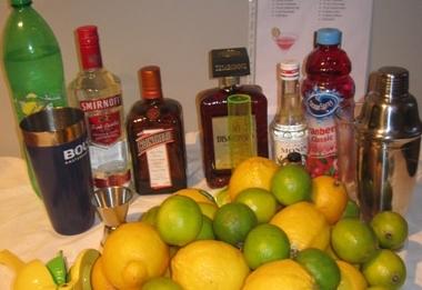 Feest met cocktails