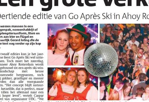 Barpersoneel van Go Apres Ski in de Metro krant!