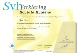 Sociale hygiene diploma en veel ervaring