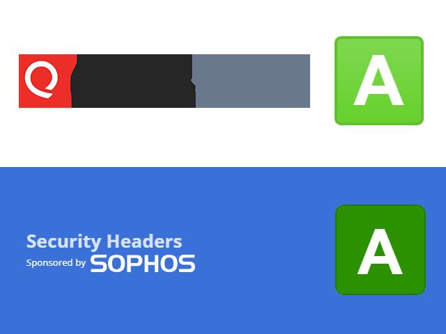 Apollo.business bereikt A status op SSL labs en op Security headers.