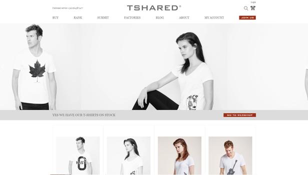 Tshared webshop