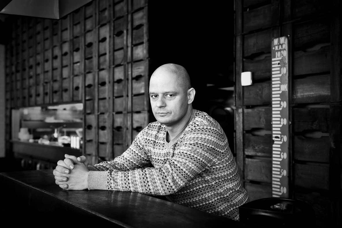 Bas Hoeflaak, cabaretier Droog Brood, 2017.
